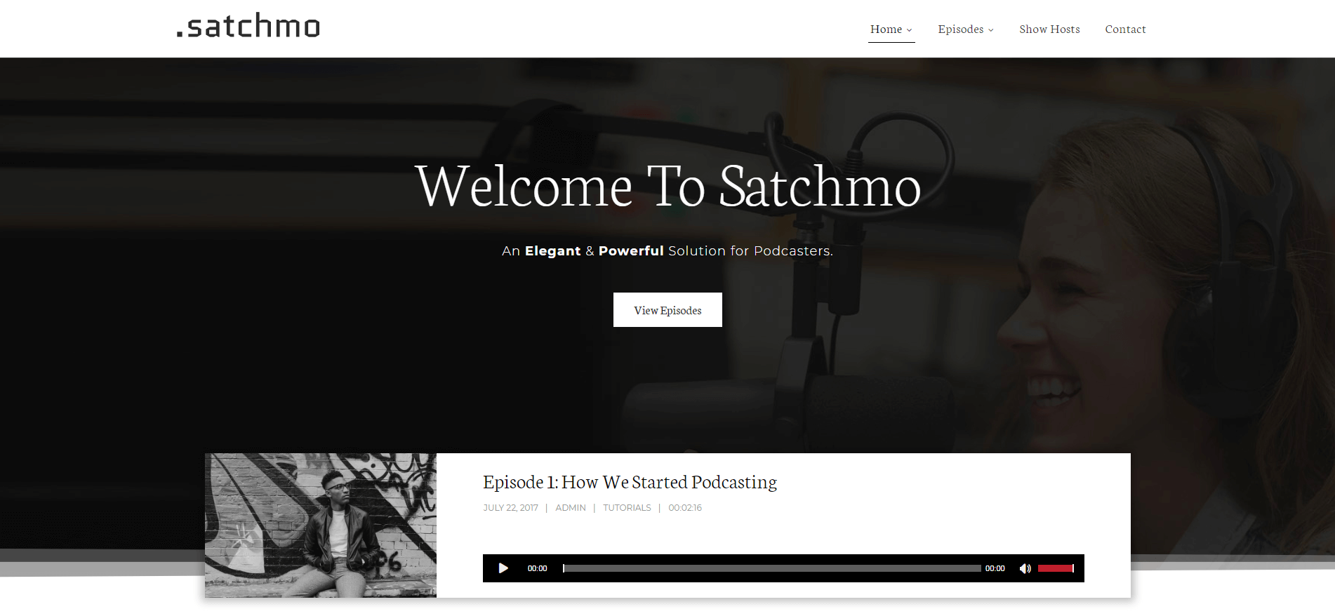 The Satchmo podcasting theme.