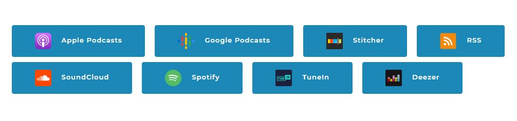 Podcast Subscribe Buttons inline