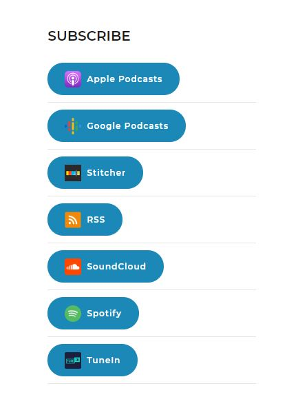 Podcast Subscribe Buttons List