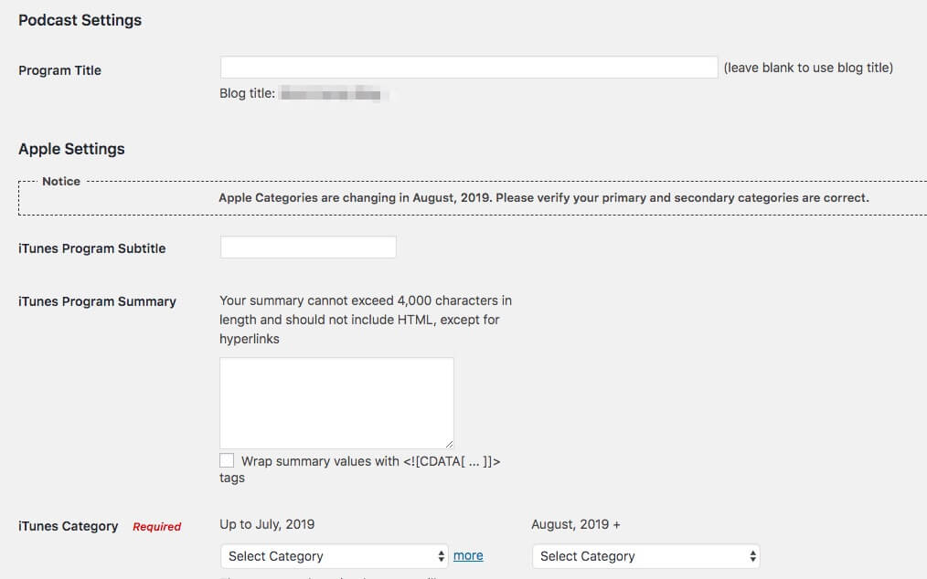 PowerPress's Simple Mode settings page.