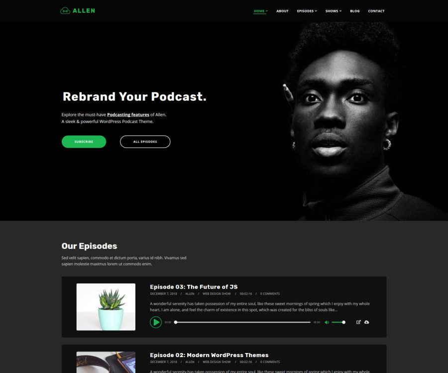 Tusant - A Unique WordPress Podcast Theme | SecondLineThemes